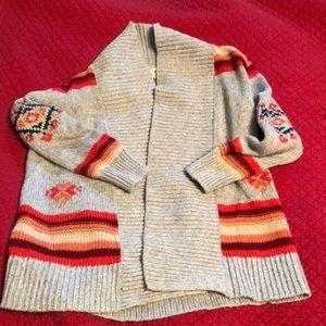 Girls Old Navy shawl collar open cardigan size 6/7